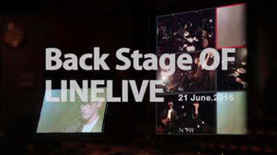 backstage of LINE LIVE